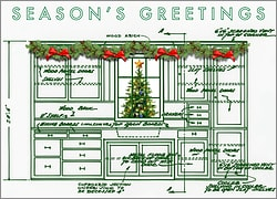 Cabinet Blueprint Holiday Card