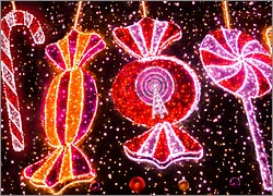 Cellular Christmas Lights Card
