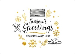 Garage Icons Holiday Card