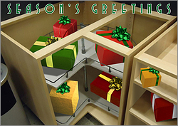 Kitchen Cabinet Christmas Card
