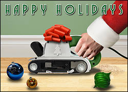 Belt Sander Christmas Card