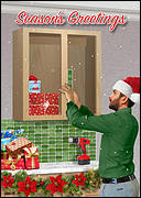 Cabinet Hangers Christmas Card