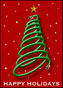 Cable Christmas Tree Card