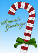Candycane Roofing Christmas Card