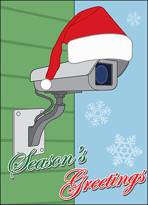 Christmas Security (Glossy White)