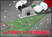 Concrete Cutting Christmas Card