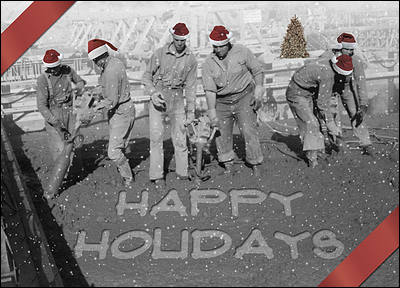 Concrete construction christmas cards for your business your company name reheart Image collections
