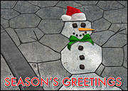 Concrete Stamping Christmas Card