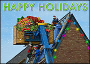 Decorative Roofing Christmas Card