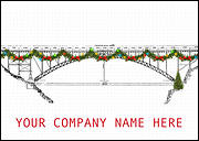 Festive Bridge Christmas Card