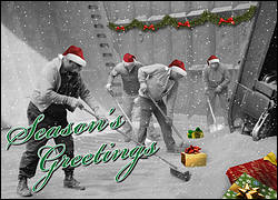 Festive Laborers Christmas Card