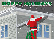 Gutter Installer Christmas Card