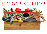 Handyman Christmas Card