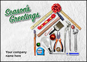Handyman Tools Christmas Card