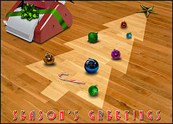 Hardwood Floor Christmas Card