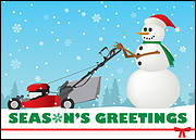 Lawn Care Holiday Card