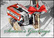 Oil Drilling Christmas Card