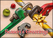 Pipe Wrench Christmas Card