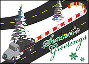 Road Construction Holiday Card