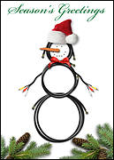 Snowman Cable Christmas Card