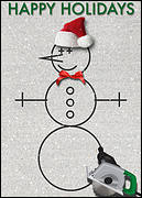 Snowman Concrete Cutter Card
