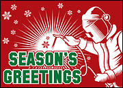 Welding Christmas Card