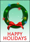 Wreath Cable Christmas Card
